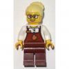 LEGO<sup>®</sup> City - Female with Brown Apron with Cup and Name Tag Patt