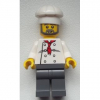 LEGO<sup>®</sup> City - Chef - White Torso with 8 Buttons