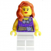 LEGO<sup>®</sup> City - Female Dark Purple Blouse with Gold Sash and Flowe