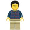 LEGO<sup>®</sup> City - Dad - Dark Blue Plaid Button Shirt