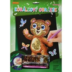 Obrázek Korálkový obrázek - Medvídek