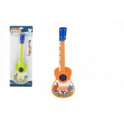 Obrázek Ukulele/kytara plast 40cm s trsátkem Zvířátka a jejich kapela 2 barvy na kartě