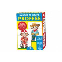 Obrázek Puzzle deskové Naučme se hravě profese v krabici 20x28x4cm
