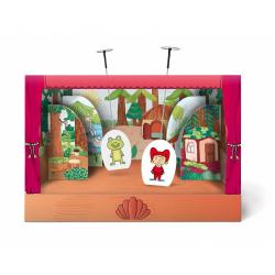 Obrázek Divadielko papierové bábkové divadlo s oponou 6ks postavičiek