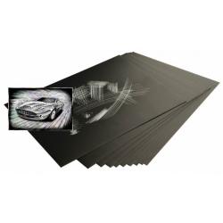 Obrázek Škrabací folie holografická 22,9 x 15,2 cm 10 ks