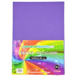 Obrázek Pěnovka- fialová, 10 ks, A4 - cca 2 mm