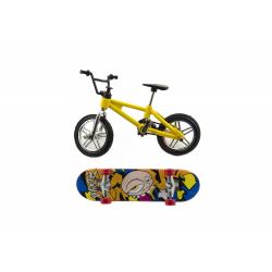 Obrázek Skateboard prstový s kolem plast 10cm - mix druhů