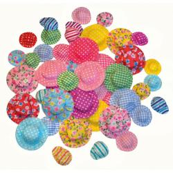 Obrázek Látkové kloboučky, 50 ks, mix velikostí a barev