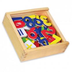 Obrázek Magnetky čísla dřevěné 37 ks