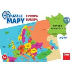 Obrázek Puzzle 58 dílků mapy Evropa