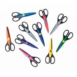 Obrázek Nůžky konturovací- prodej celé balení- 10 různých kusů, cena za 10 ks