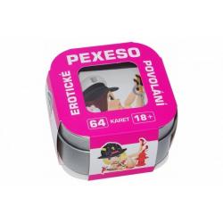 Obrázek Erotické pexeso povolání (od 18 let) v plechové krabičce 6,5x6,5x4cm