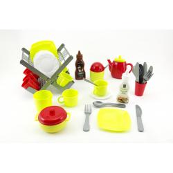 Obrázek Odkapávač s nádobím + doplňky plast 40ks