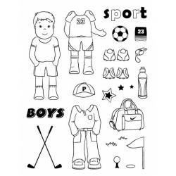 Obrázek Gelová razítka- Klučičí- sport
