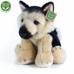 Obrázek Plyšový pes něměcký ovčák sedící 30 cm ECO-FRIENDLY