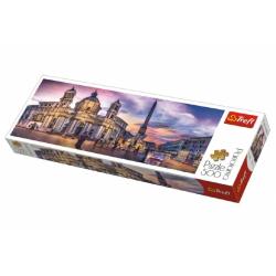 Obrázek Puzzle Piazza Navona, Řím panorama 500 dílků 66x23,7cm