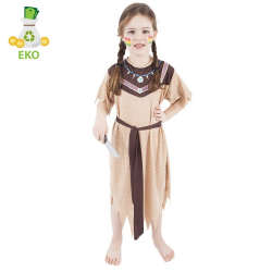 Obrázek Dětský kostým Indiánka s páskem (M) EKO
