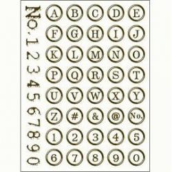 Obrázek Gelová razítka - Písmenka a číslice - v kroužku