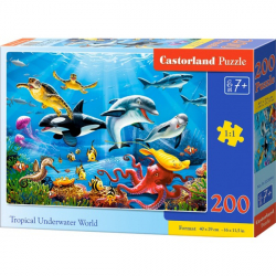 Obrázek Puzzle Castorland 200 dílků premium - Tropický podvodný svět
