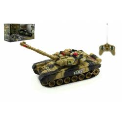 Obrázek Tank RC plast 25cm s dobíjecím packem+adaptér  - 2 druhy