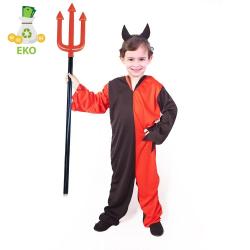 Obrázek Dětský kostým čert s čelenkou (S) EKO