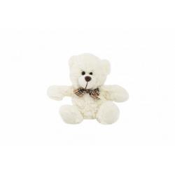 Obrázek Medvěd sedící s mašlí plyš 18cm 0+