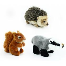 Obrázek plyšová veverka, jezevec a ježek, sada lesní, 16 cm - 3 druhy