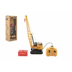Obrázek Jeřáb plast 36cm na ovládání na kabel s kontejnerem v krabici 16x40x12cm