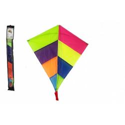 Obrázek Drak létající nylon 88x81cm barevný v sáčku 10x90cm