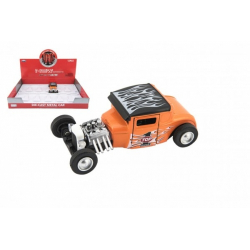 Obrázek Auto sportovní kov/plast 12cm na baterie se světlem se zvukem 4 barvy na zpětné natažení 12ks v boxu