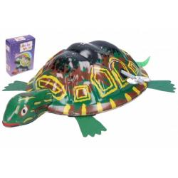 Obrázek Želva na klíček kovová 8x12 cm v krabičce 9x12x3,5cm