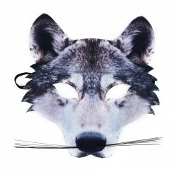 Obrázek maska vlk dětská