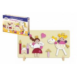 Obrázek Magnetické puzzle Princezny v krabici 33x23x3,5cm