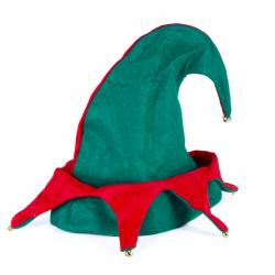 Obrázek Vánoční čepice elf s rolničkami pro dospělé