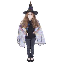 Obrázek karnevalový kostým čarodějnice - plášť + klobouk