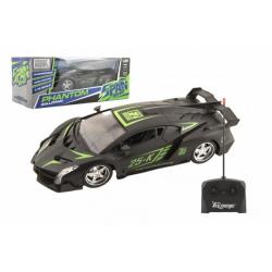 Obrázek Auto sportovní RC plast 25cm 27MHz na dálkové ovládání na baterie v krabici 33x13x14,5cm