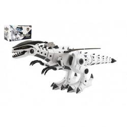 Obrázek Dinosaurus chodící plast 40cm na baterie se zvukem a světlem v krabici 34x19x17cm