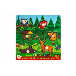 Obrázek Vkládačka dřevěná Moje první lesní zvířátka 6 ks 22,5x22,5x2,5 cm od 12 měsíců MPZ