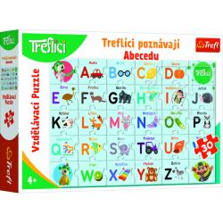 Obrázek Vzdělávací puzzle 30 - Treflíci poznávají abecedu