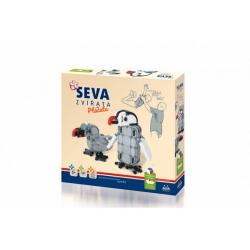 Obrázek Stavebnice Seva Zvířata ptáčata plast 347 dílků v krabici 35x33x5cm