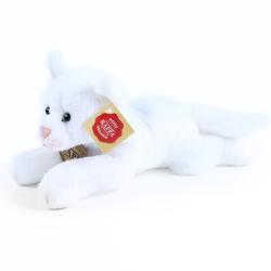Obrázek plyšová kočka ležící bílá 18 cm