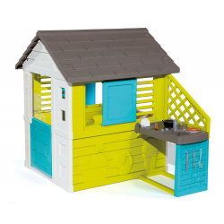 Obrázek Domeček Pretty modrozelený s kuchyní