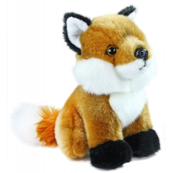 Obrázek plyšová liška sedící, 18 cm