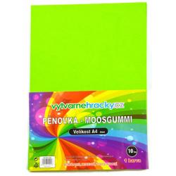 Obrázek Pěnovka- světle zelená, 10 ks, A4 - cca 2 mm