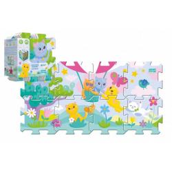 Obrázek Pěnové puzzle 8ks Koťátka 32x32cm v sáčku 24m+