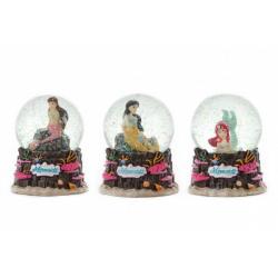 Obrázek Sněhová koule/Těžítko Mořská panna 10x9cm 3 druhy v krabičce 11x13x11cm