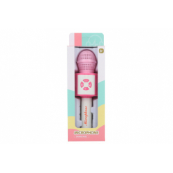 Obrázek Mikrofon na baterie růžový