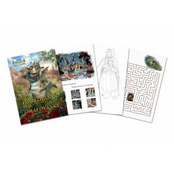 Obrázek Omalovánky a zábavné hraní Když draka bolí hlava, 24 stran A4