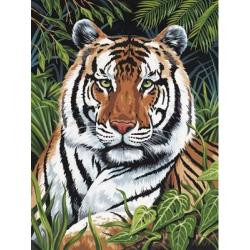 Obrázek Malování podle čísel - Tygr v trávě