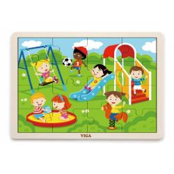 Obrázek Dřevěné puzzle 16 dílků - hriště